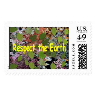 Respect the Earth Postage Stamp