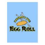 Respect The Egg Roll Postcard