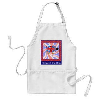 Respect the flag adult apron