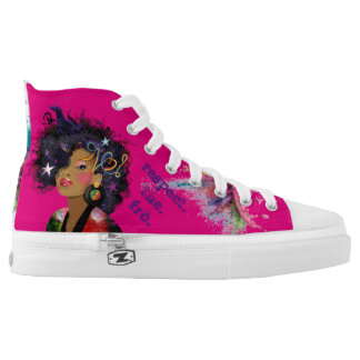 Respect. The. Fro. Printed Shoes