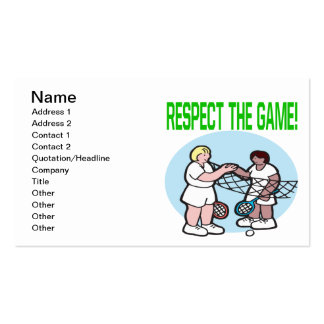 Respect The Game Business Card Template