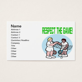 Respect The Game Business Card