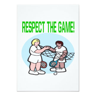 Respect The Game 5x7 Paper Invitation Card