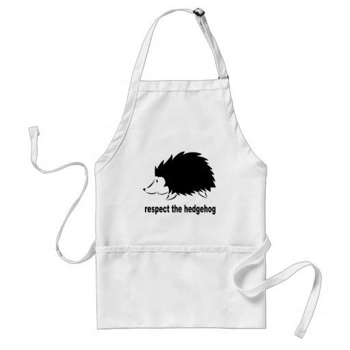 Respect The Hedgehog Aprons