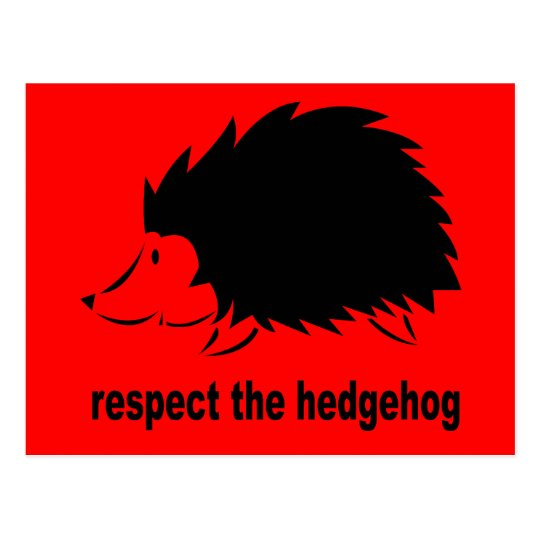 Respect The Hedgehog Postcard