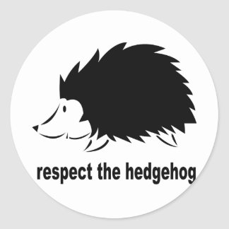 Respect The Hedgehog Round Stickers