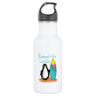 Respect The Locals 18oz Water Bottle