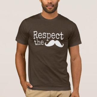 Respect the mustache dark t shirts