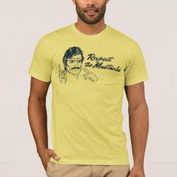 Men's Basic American Apparel T-Shirt with Respect the Mustache design