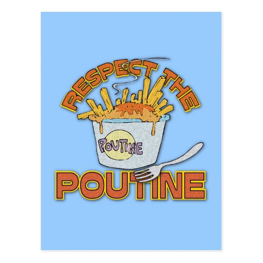 Respect The Poutine Postcards