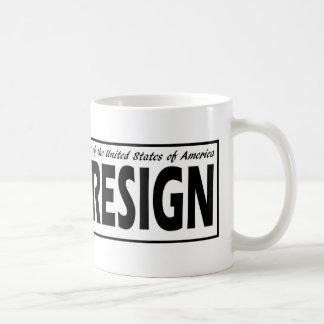 Respect the Presidency ... Divest or Resign Coffee Mug