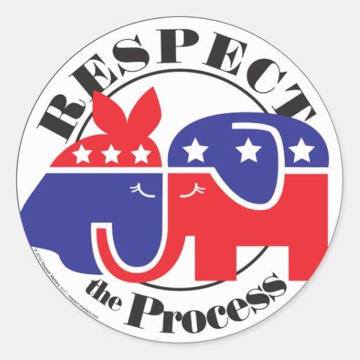 Respect the Process Classic Round Sticker
