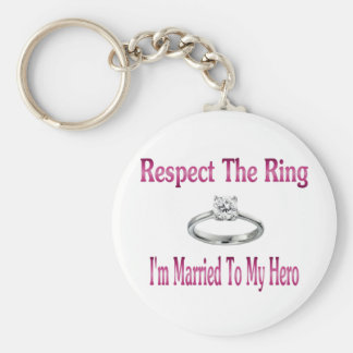 respect the ring 2 basic round button keychain