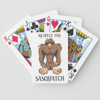 RESPECT THE SASQUATCH BICYCLE CARD DECK
