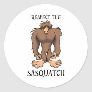 RESPECT THE SASQUATCH CLASSIC ROUND STICKER