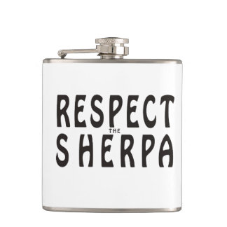 """""""Respect the Sherpa"""" Mountaineering Flasks"""