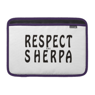 """""""Respect the Sherpa"""" Mountaineering MacBook Sleeve"""