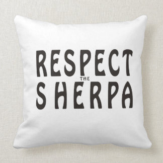 """""""Respect the Sherpa"""" Mountaineering Pillows"""