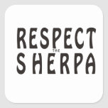 """""""Respect the Sherpa"""" Mountaineering Stickers"""