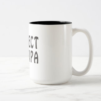 """Respect the Sherpa"" Mountaineering Two-Tone Coffee Mug"