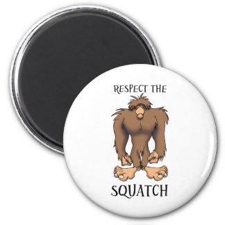 RESPECT THE SQUATCH 2 INCH ROUND MAGNET