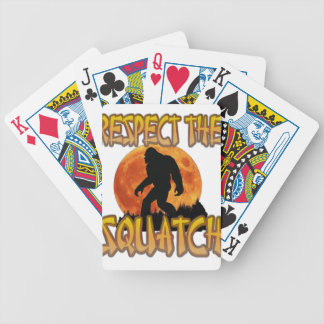 Respect The Squatch Bicycle Playing Cards