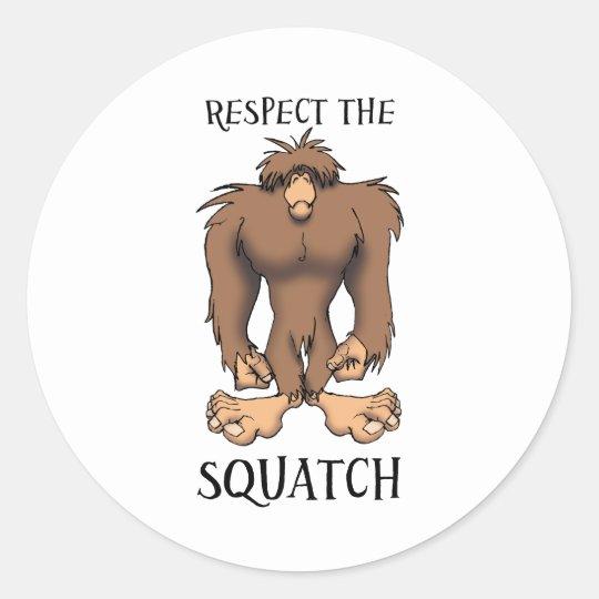 RESPECT THE SQUATCH CLASSIC ROUND STICKER