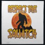 "Respect The Squatch Cloth Napkin<br><div class=""desc"">Respect the World Hide and Seek champion</div>"