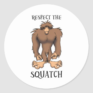 RESPECT THE SQUATCH ROUND STICKERS