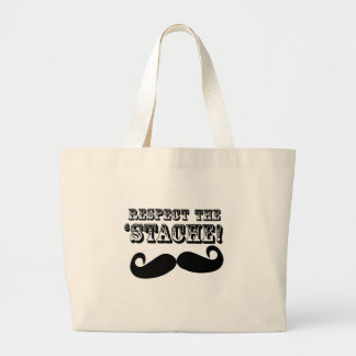 Respect the 'Stache Jumbo Tote Bag