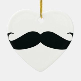 Respect the Stache Mustache Ceramic Ornament