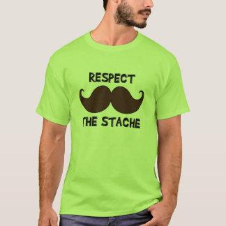 Respect the Stache Mustache Moustache T-Shirt