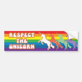 Respect the Unicorn Bumper Sticker