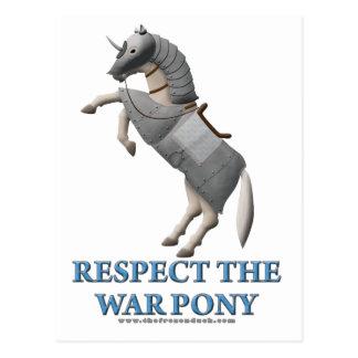 Respect the War Pony Postcard