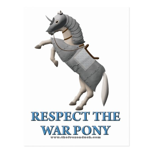 Respect the War Pony Postcard
