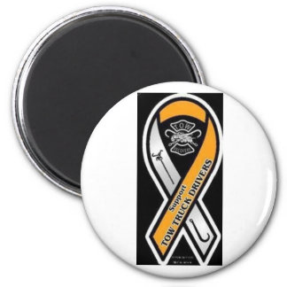 Respect Tow Truck Operators 2 Inch Round Magnet
