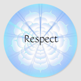 Respect (Virtue sticker) Classic Round Sticker