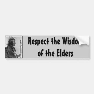 respect wisdom bumper sticker car bumper sticker