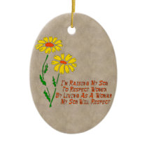 Respect Women Ceramic Ornament