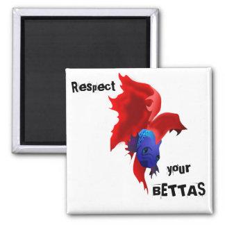 Respect your Bettas Magnet