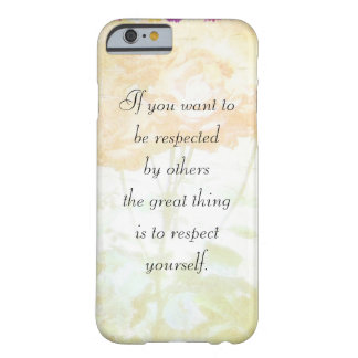 Respect Yourself (Dostoyevsky Quote) iPhone 6 case