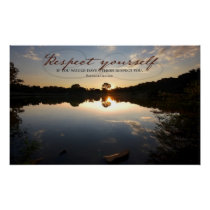 Respect Yourself inspirational poster print