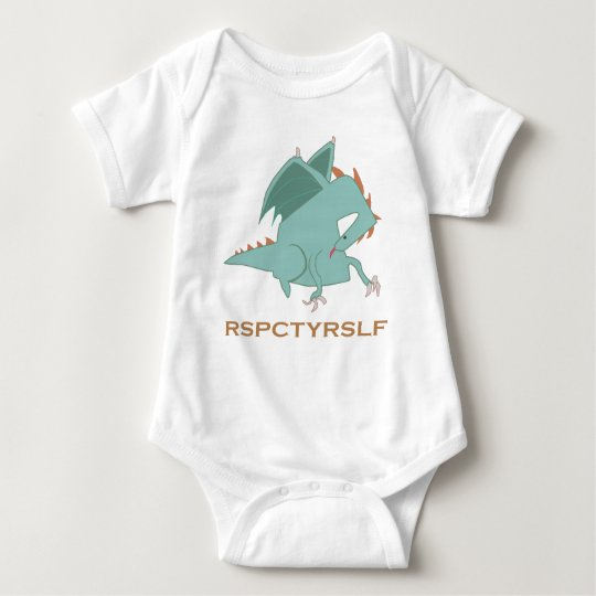 RESPECT YOURSELF Motivational Dragon Series Baby Bodysuit