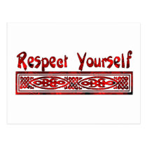 Respect Yourself Postcard