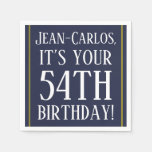 [ Thumbnail: Respectable 54th Birthday Paper Napkins ]