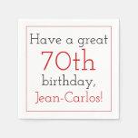 [ Thumbnail: Respectable 70th Birthday Paper Napkins ]