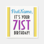 [ Thumbnail: Respectable 71st Birthday Paper Napkins ]