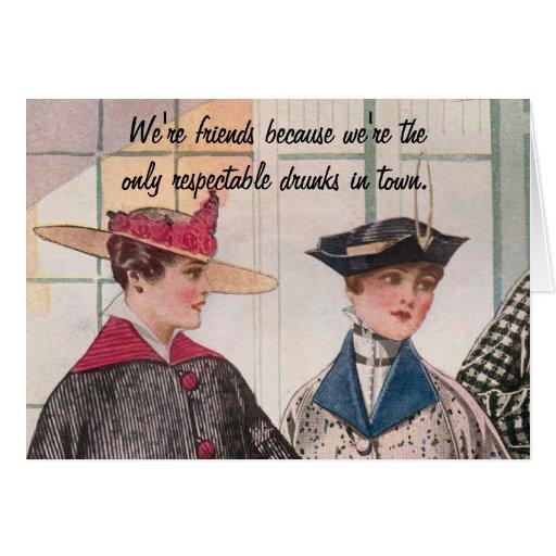 Respectable Drunks Card