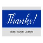 "[ Thumbnail: Respectable, Elegant ""Thanks!"" Postcard ]"