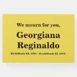 [ Thumbnail: Respectable, Personalized Condolences Guestbook ]